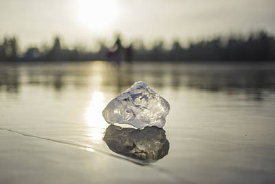Photograph - Ice Puck On Little Rock Lake by Alex Blondeau