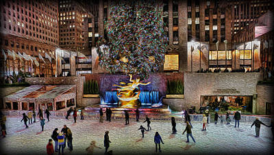 Photograph - Ice Rink At Rockefeller Center by Lee Dos Santos