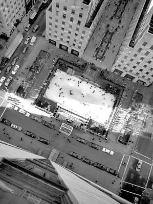 Ice Rink From Above Original by Bill Morris