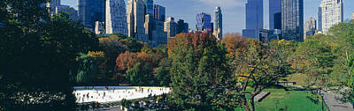 Ice Rink In A Park, Wollman Rink Print by Panoramic Images