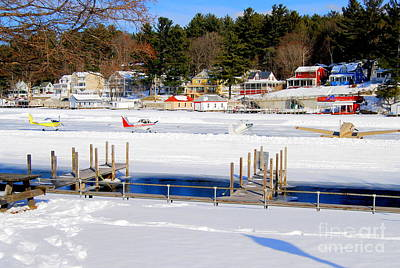 Photograph - Planes On The Ice Runway In New Hampshire by Eunice Miller
