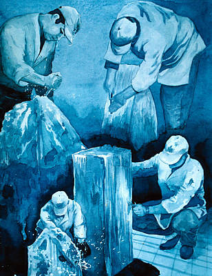 Pittsburgh According To Ron Magnes - Ice Sculptor by Paul Gioacchini