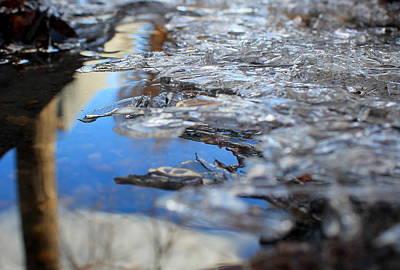 Photograph - Ice Shelf Blue by Trent Mallett