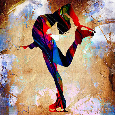 Mixed Media - Ice Skater by Marvin Blaine