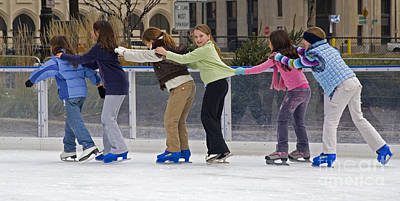 Ice Skaters Art Print