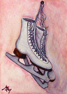 Painting - Ice Skates by Monique Morin Matson
