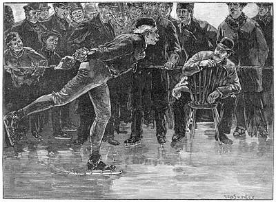 Ice Skating, 1884 Art Print