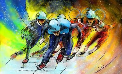Ice Speed Skating 01 Art Print