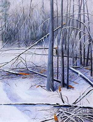 Painting - Ice Storm by Al Hunter
