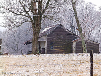 Photograph - Ice Storm And The Old House by Nick Kirby