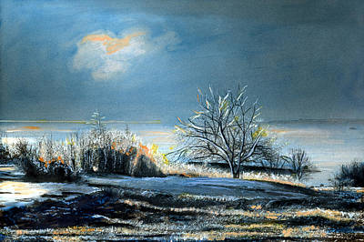 Painting - Ice Storm Coast Of Maine by Cindy McIntyre