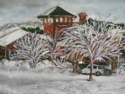 Ice Storm In Montana Art Print