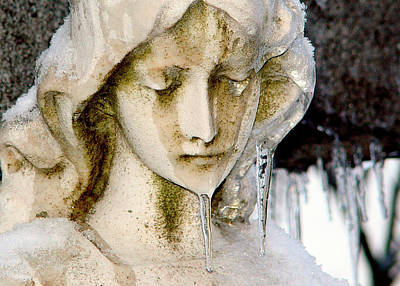 Religious Angel Art Photograph - Ice Tear Drop by Gothicrow Images
