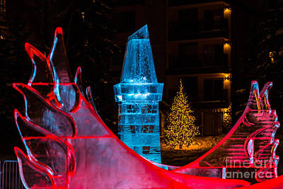 Photograph - Ice Tower And Xmas Tree by Franz Zarda