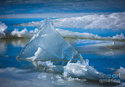 Ice Triangle Art Print by Inge Johnsson