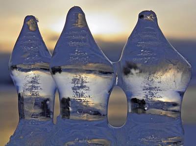 Transparent Photograph - Ice Trio by Sami Tiainen