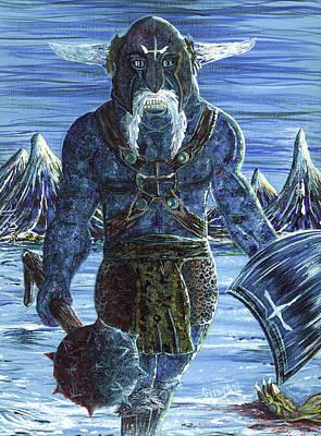 Painting - Ice Viking by Jason Girard