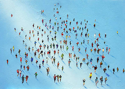 Crowd Painting - Ice Walking by Neil McBride