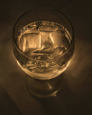 Ice Water By Candle Light Art Print by Angela A Stanton