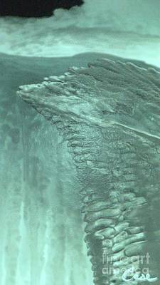 Opaque White Mixed Media - Ice Wing by Feile Case