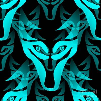 Digital Art - Ice Wolf by Barbara Moignard