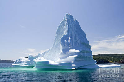 Art Print featuring the photograph Iceberg Canada by Liz Leyden
