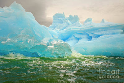 Photograph - Iceberg Floating At Sea by Yva Momatiuk John Eastcott