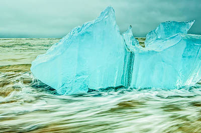 Photograph - Iceberg Flow by Greg Wyatt