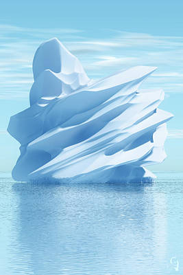 Iceberg Art Print by Matt Lindley