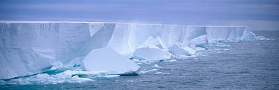 Thawing Photograph - Iceberg, Ross Shelf, Antarctica by Panoramic Images