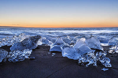 Photograph - Icebergs At Sunrise by Denise Bush