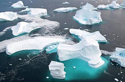 Transformed Photograph - Icebergs, Cape York, Greenland by Daisy Gilardini