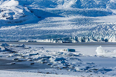 Icebergs Drifting In Fjallsarlon Art Print by Panoramic Images