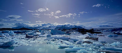 Icebergs Floating On Water Art Print by Panoramic Images