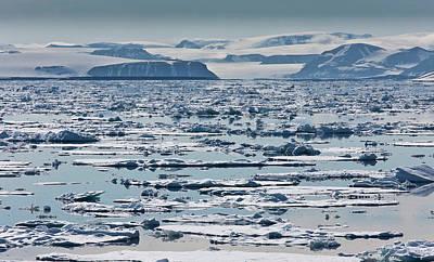 Icebergs, Hinlopen Strait, Spitsbergen Art Print