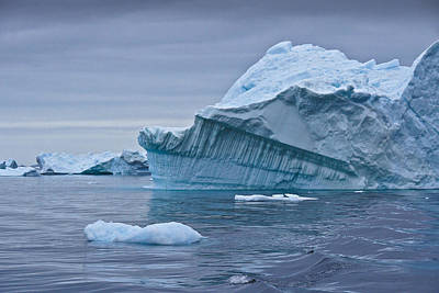 Photograph - Icebergs In Blue No. 1 by Michele Burgess