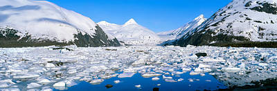 Icebergs In Portage Lake And Portage Art Print by Panoramic Images