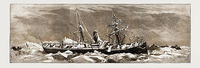Stanleys Steamers Drawing - Icebound In The Baltic The Steamer West Stanley by Litz Collection