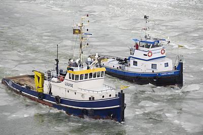 Flevoland Photograph - Icebreaker On Maardermeer, Lelystad by Bram van de Biezen