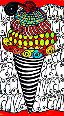 Filigree Drawing - Icecreamforpattern by Amy Carruth-Drum