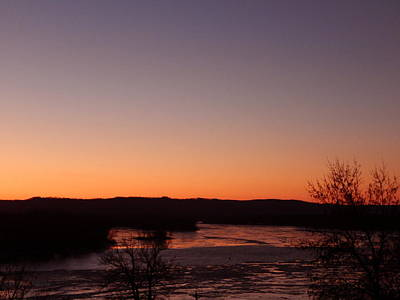 Photograph - Iced Sunset by Wild Thing