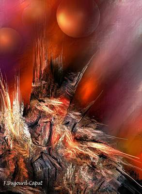 Icefire Art Print by Francoise Dugourd-Caput