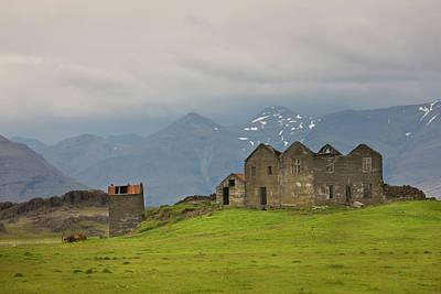 Iceland Abandoned Farmhouse On A Hill Art Print