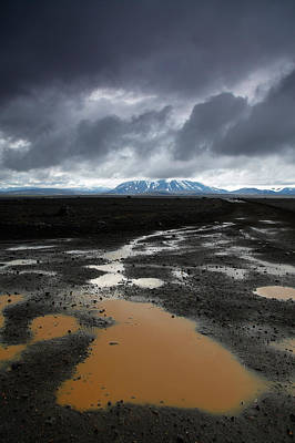 Gravel Road Photograph - Iceland After The Rain by Nina Papiorek