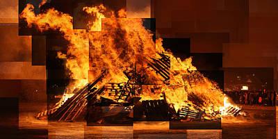 Iceland Bonfire Art Print