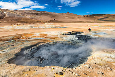 Mudpot Photograph - Iceland Geothermal Area Hverir With Mudpot by Matthias Hauser