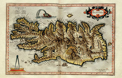 Cartography Photograph - Iceland by Library Of Congress, Geography And Map Division