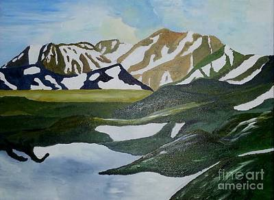 Painting - Iceland Mountains by Susanne Baumann