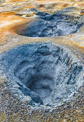 Iceland Natural Abstract Mudpot And Sulphur Print by Matthias Hauser