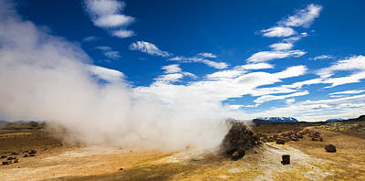 Photograph - Iceland Panorama Geothermal Area Hverir by Matthias Hauser